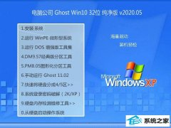 <strong>电脑公司W10 精简纯净版 v2020.05(32位)</strong>